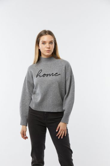 Pull COME Gris chine