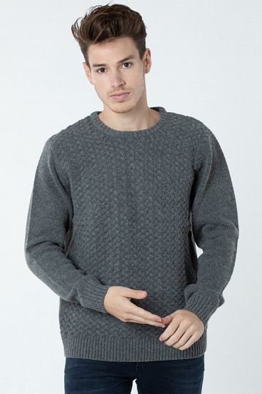 Pull Clamy 3158 Gris Chiné
