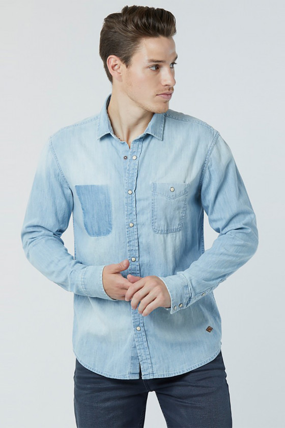Chemise DUBYA 6131 Denim Bleach