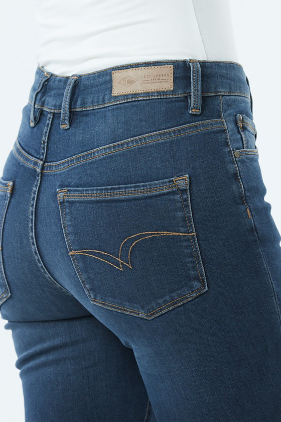 Jean LC135 Petrol Blue Brushed