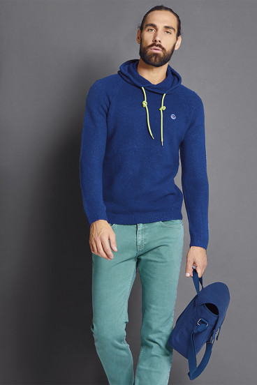 Pull capuche CLINGBO Sea Blue
