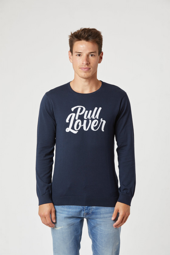 Sweater CLEROS Navy / White